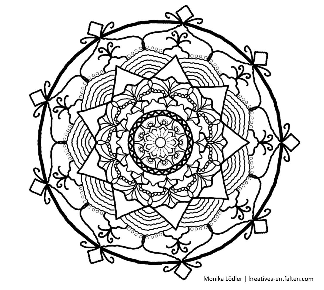 Kostenlose Mandala-Malvorlagen