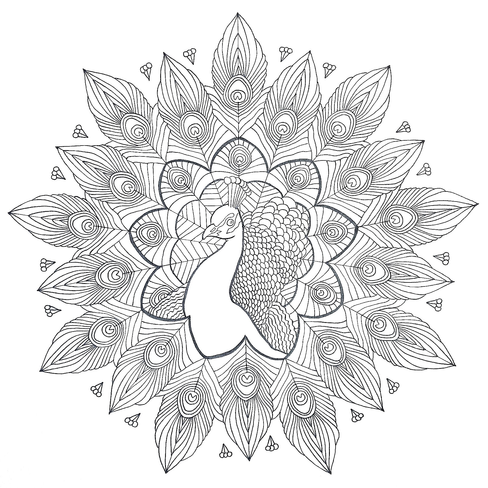 Kostenlose Mandala Malvorlagen